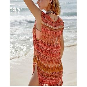 Free People Into the Flames long maxi crocheted